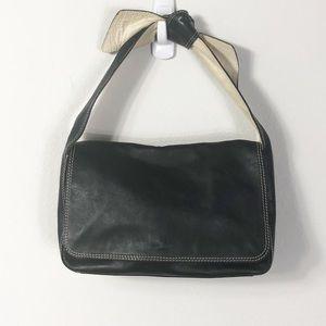 Kate Spade Black Leather Bow Handle Purse